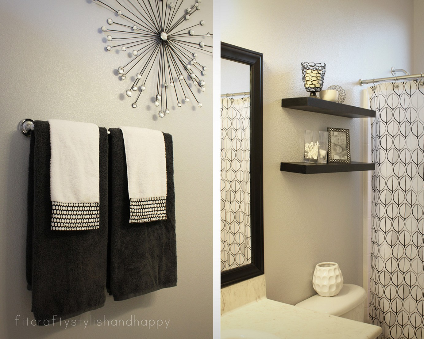 Bathroom walls decor tricks and cheats