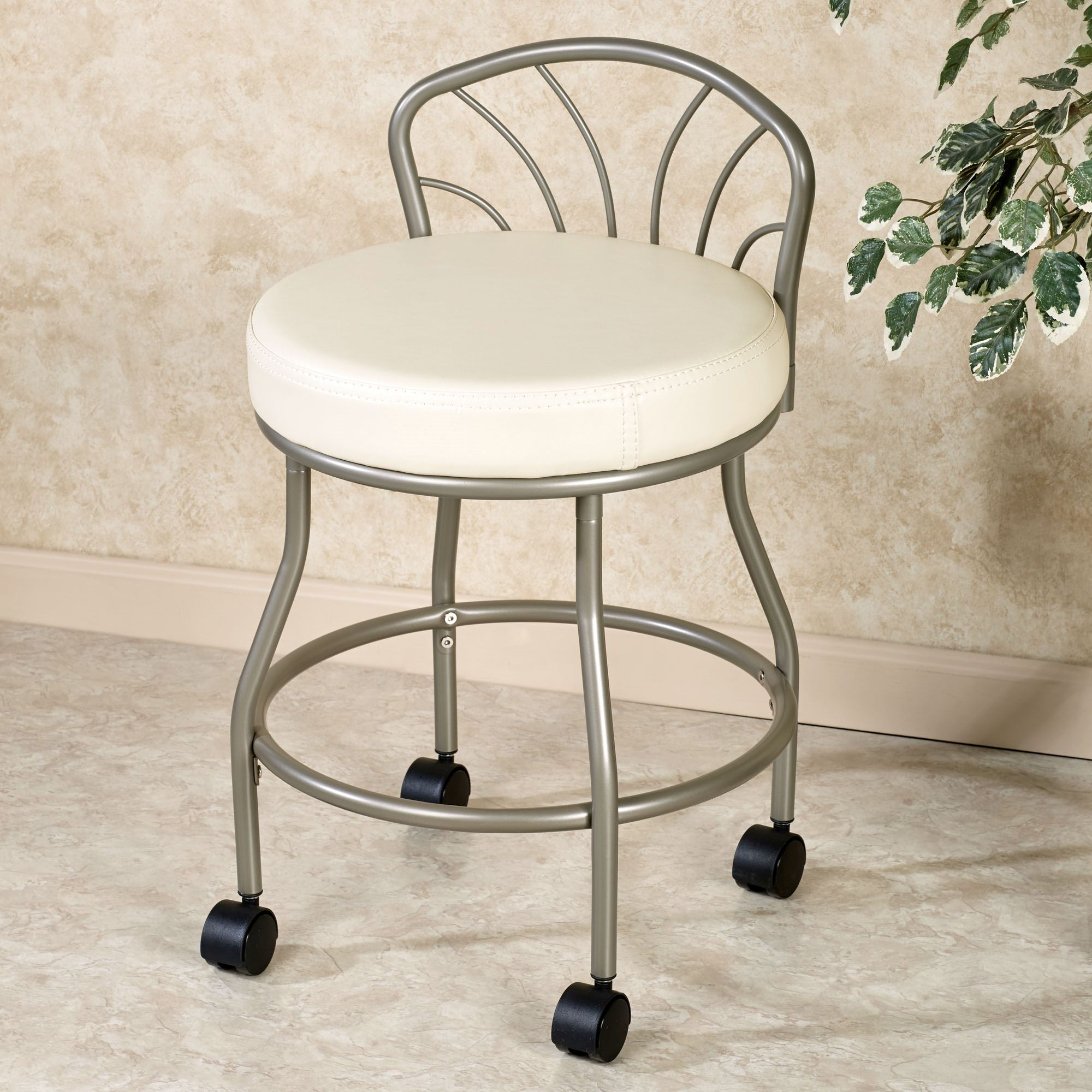 flare back powder finish vanity chair. click to expand DLTFNTJ