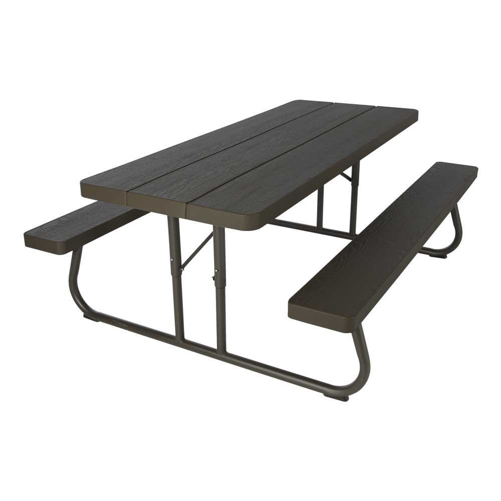 folding picnic table lifetime 6u0027 folding outdoor picnic table (brown) 60110 UDYYNQG