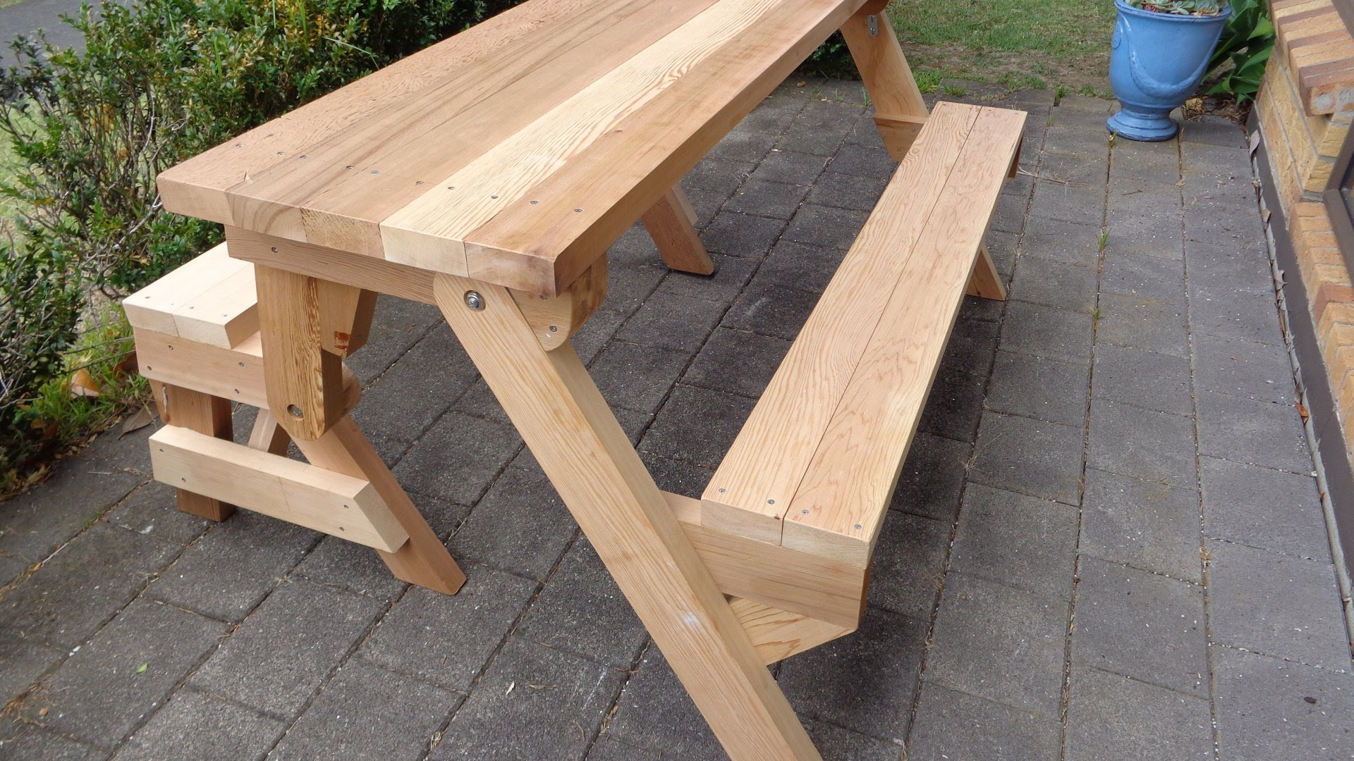 folding picnic table made out of 2x4s - youtube TQIIOHT