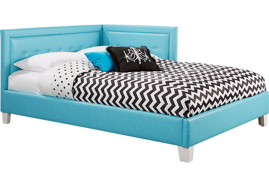 full bed lucie blue 4 pc full corner bed - beds colors MSIXSAX