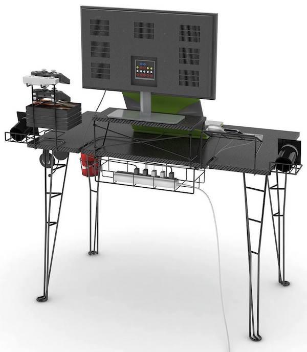 gaming computer desk atlantic-gaming-desk-rear-best-computer-desks-for- DILZKPE
