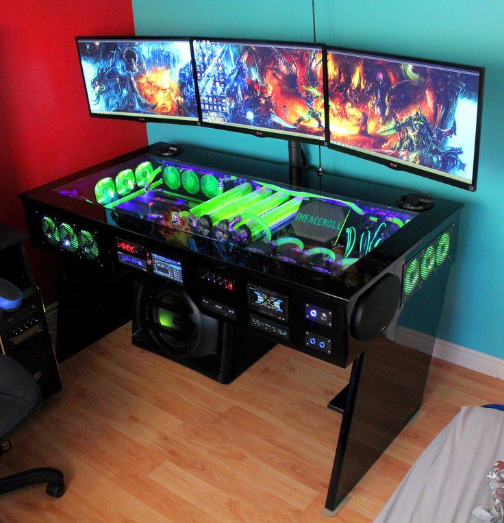 gaming computer desk i want thaaaatu2026(41 photos). custom gaming computerpc ... UQLPRYZ