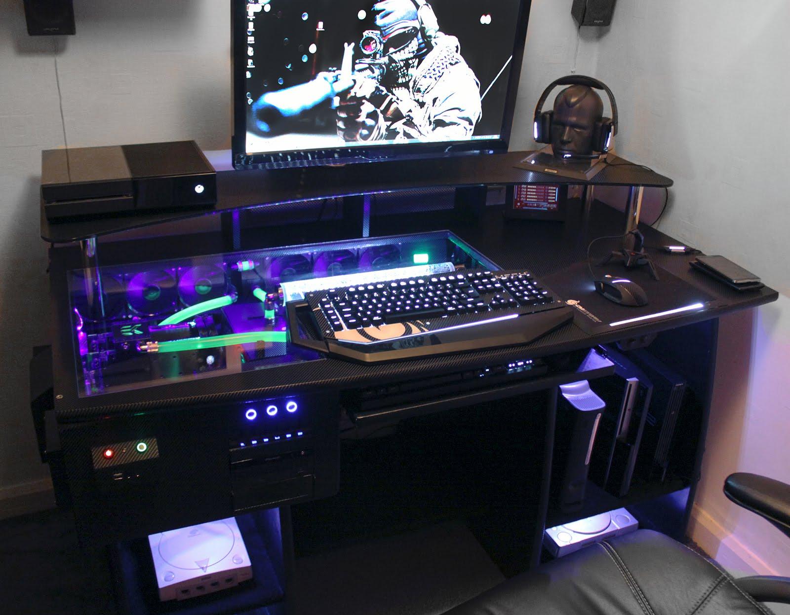 gaming computer desk ultimate gaming pc custom desk build log - youtube XAPOVYL