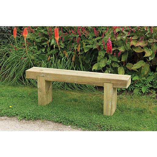 garden benches forest garden sleeper bench 1.2m UXHJEWX