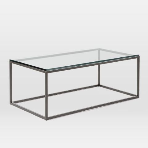 glass coffee table west elm box frame coffee table glass HKLNADT