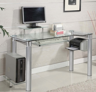 glass computer desk accessories not included TQSDLDW