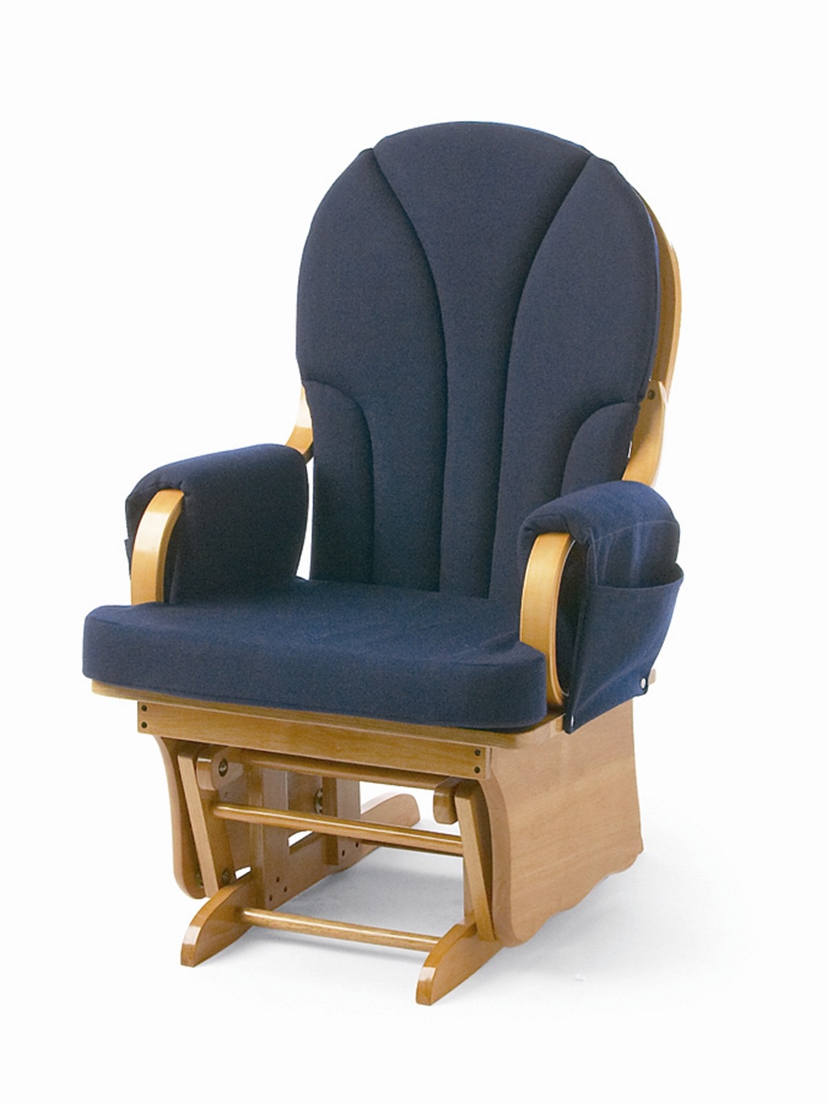 glider chair foundations lullaby adult glider rocker - blue PNIAUKI