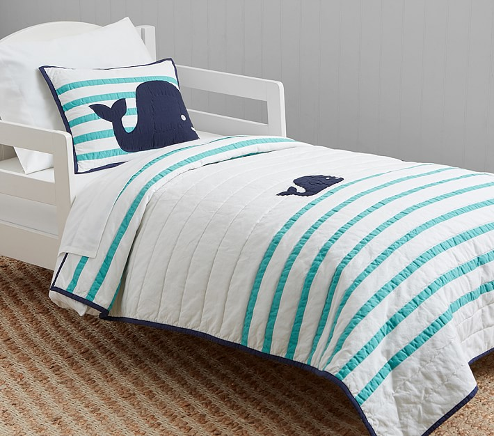 hamptons whale toddler bedding | pottery barn kids NFHBWDB
