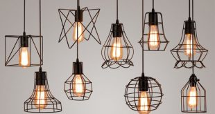 hanging lights vintage industrial metal cage pendant light hanging lamp edison bulb  lighting fixture KGDHONM
