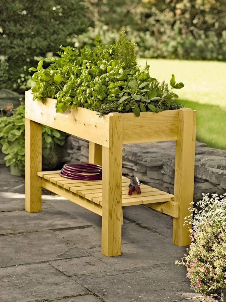 herb garden table with shelf GYDAVUT