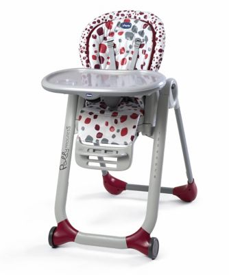 high chairs chicco polly progress highchair - cherry AACQPXU