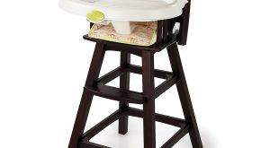 high chairs summer infant classic comfort wood high chair, fox and friends, espresso  stain RWGXFVP