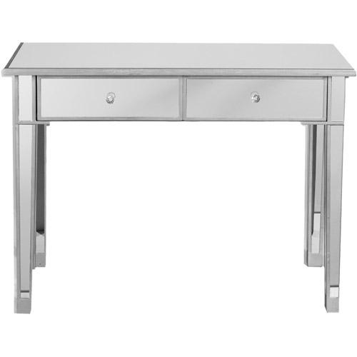 illusions collection mirrored console table/desk - walmart.com GPAFOUA