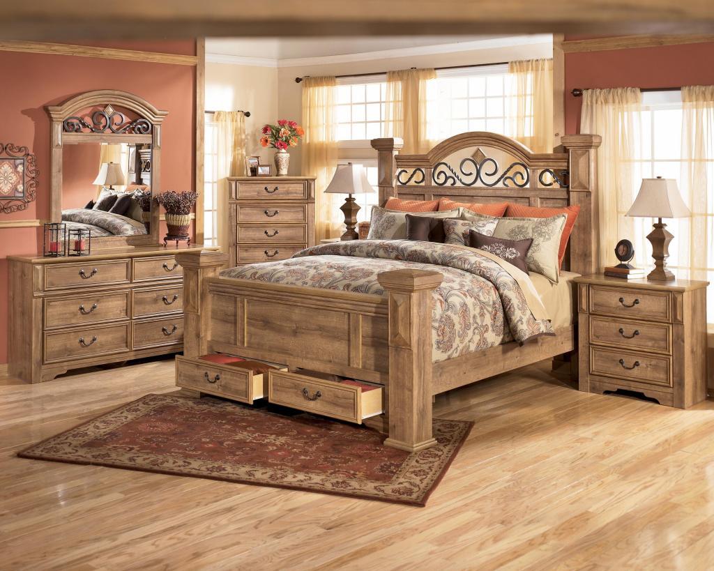 image of: solid wood rustic king size bedroom sets TPKFNHU
