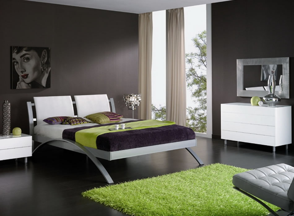 image of: top white contemporary bedroom furniture WNVUEDV