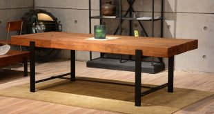 industrial u0026 wood modern rustic dining table industrial-dining-room CLDOQTW