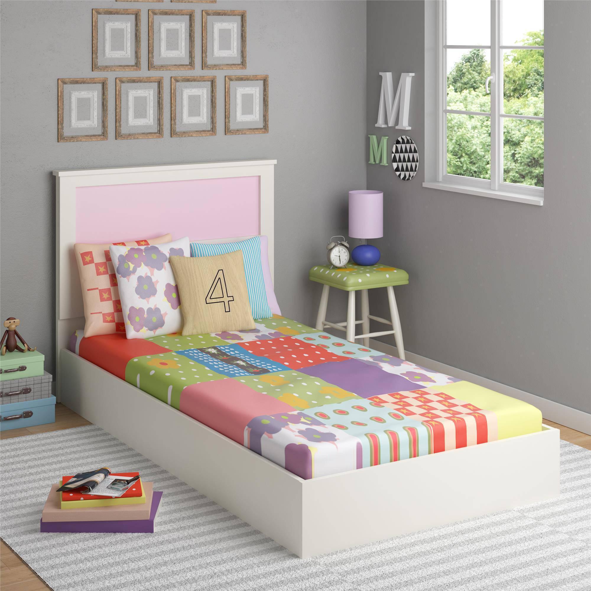 kids beds ameriwood home skyler twin bed with reversible headboard, white -  walmart.com TLIFLXC