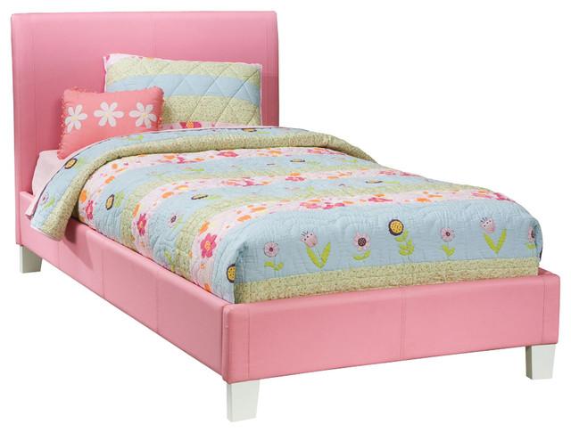 kids beds standard furniture fantasia upholstered platform bed in pink - twin  traditional-kids-beds LCHWIKE