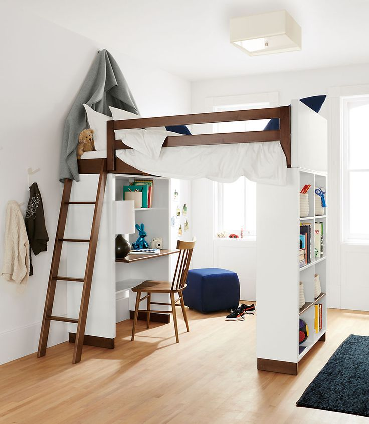 kids loft beds moda modern wood kids loft - moda loft beds with desk and bookcase PCDOXNE