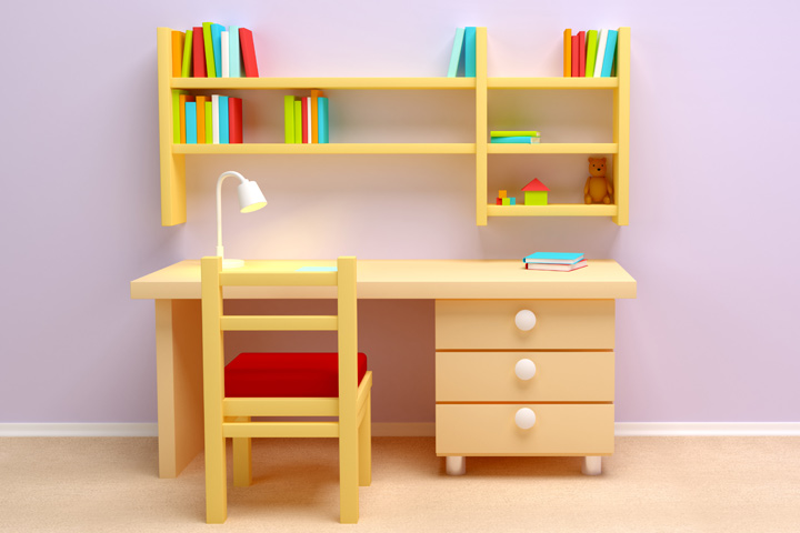 kids study table study table with side drawers: HYKBCCN