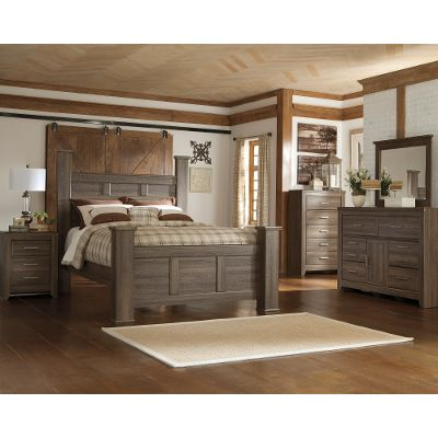 king size bedroom sets driftwood rustic modern 6 piece king bedroom set - fairfax OBGTJAC
