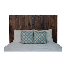 king size headboard barn walls - dark walnut hanger headboard, king - headboards QEERMVV