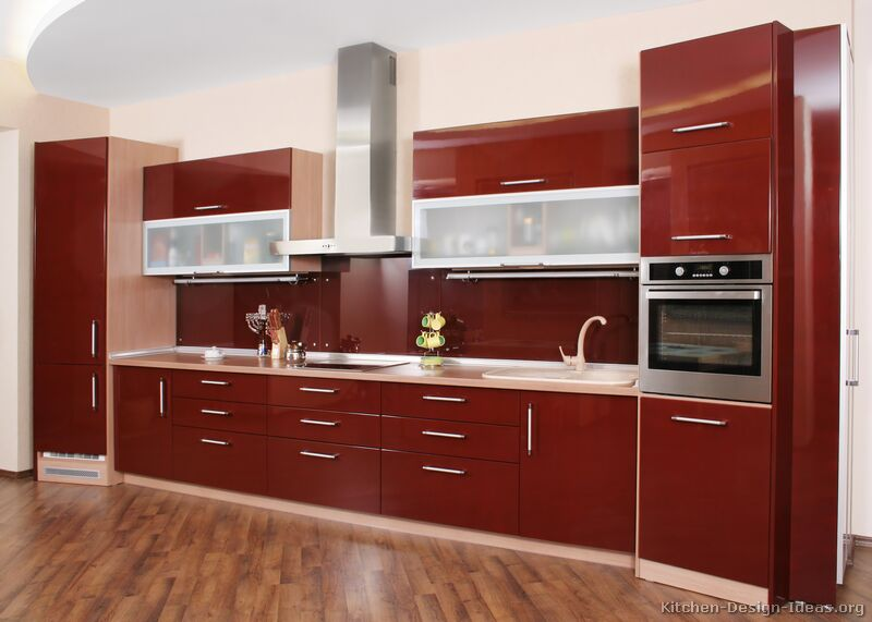 kitchen cupboards modern red kitchen NWCLAAL