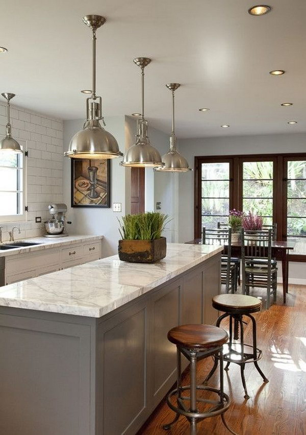 kitchen lights traditional kitchen with industrial chic lights SWOTATG