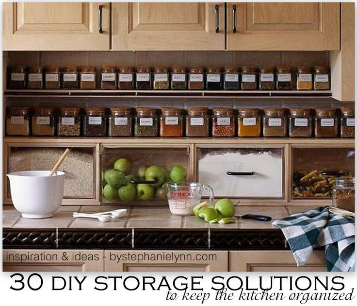 kitchen organization 30 diy storage solutions to keep the kitchen organized XOQUWAV