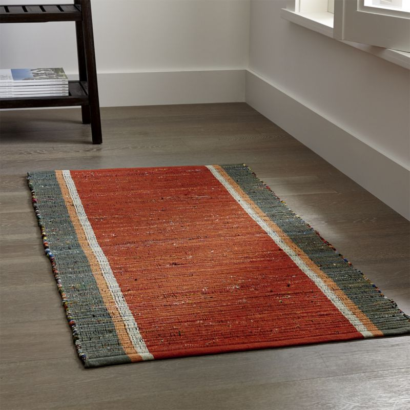 kitchen rugs quentin orange cotton rug RRDSFZX