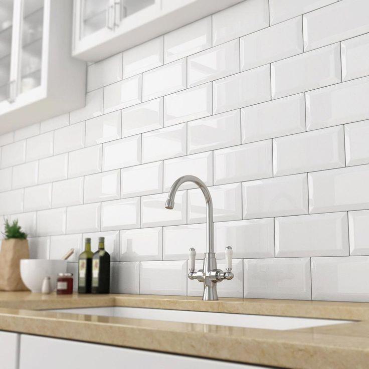 kitchen tiles victoria metro wall tiles - gloss white - 20 x 10cm OXHCKFH