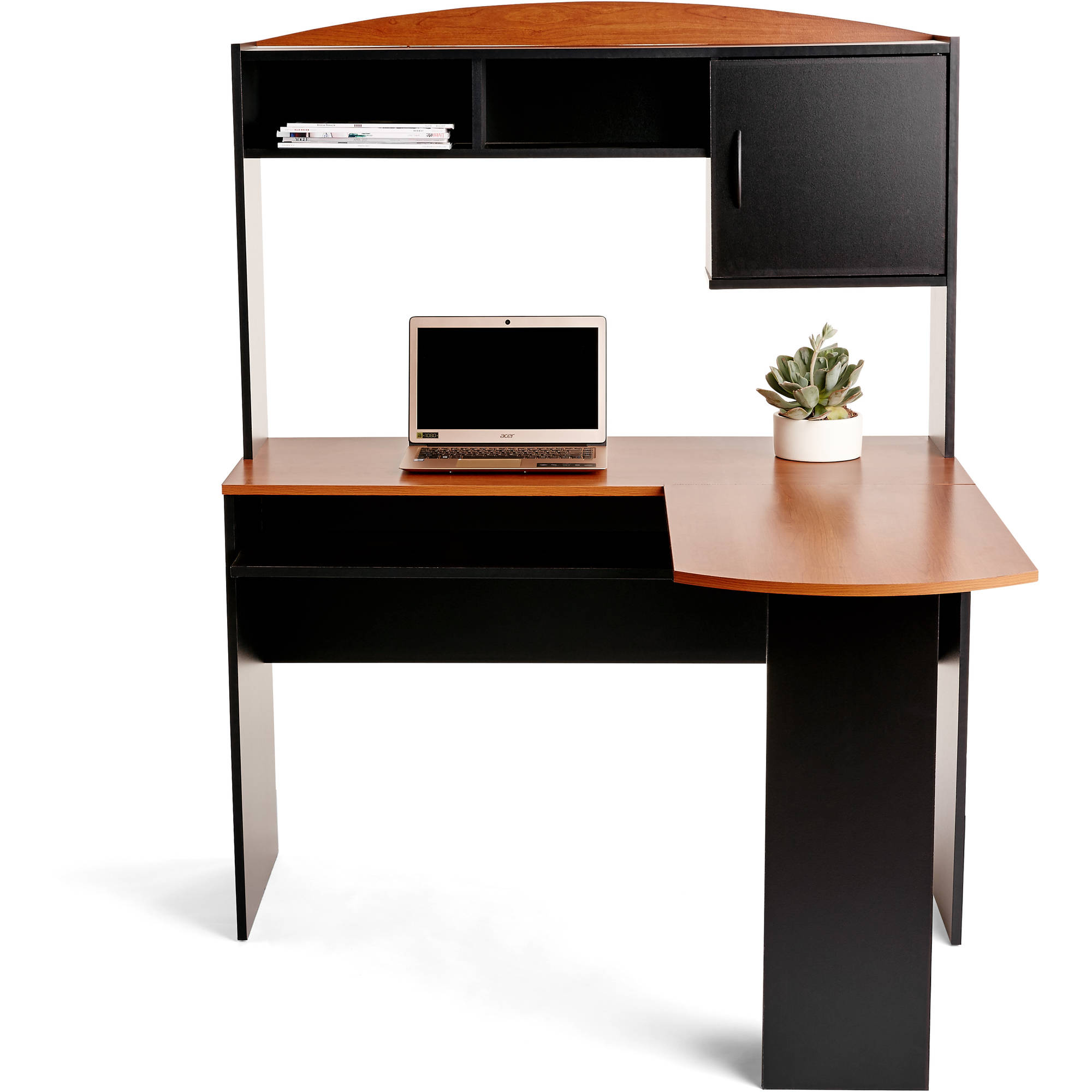 l shaped desk mainstays l-shaped desk with hutch, multiple finishes RYNDDSP