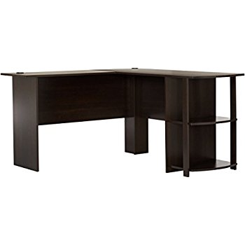 l shaped desk this item ameriwood home dakota l-shaped desk with bookshelves (espresso) OPNSFZF