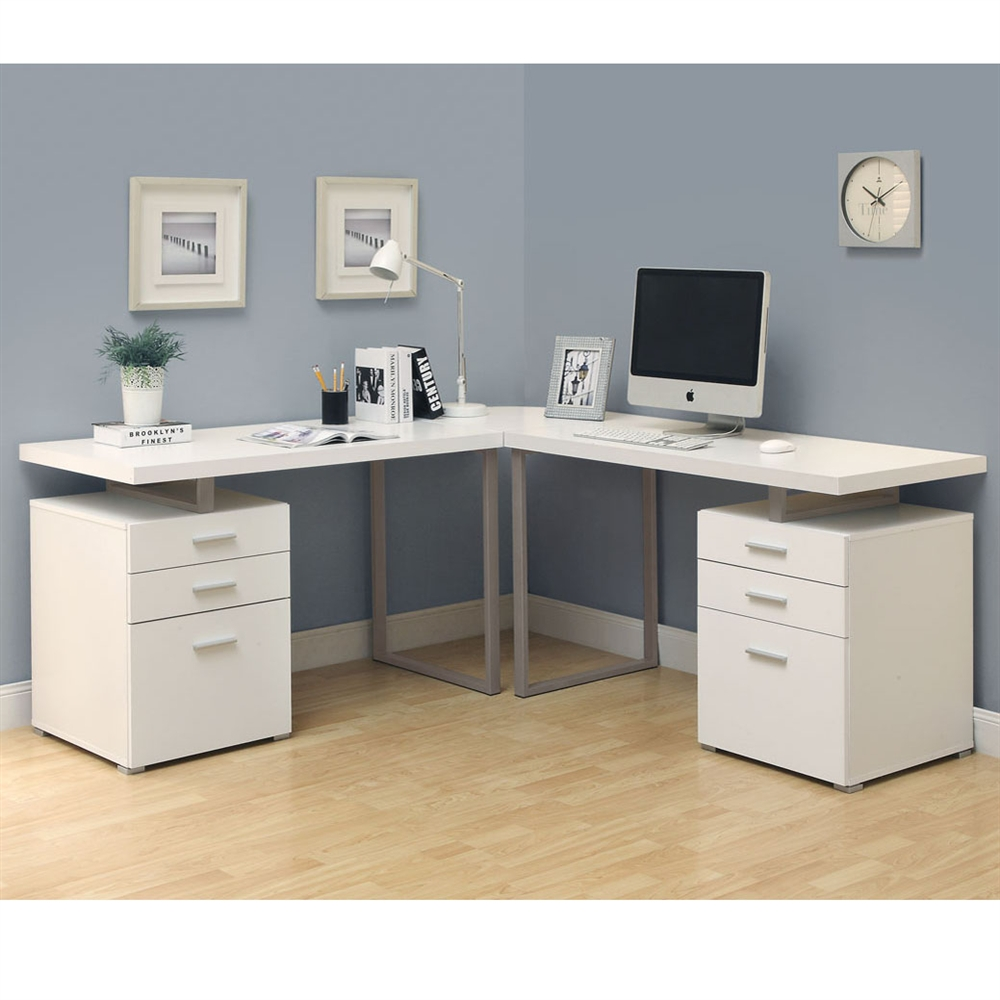 l shaped desk white 3pc l-shaped desk UDECYHD