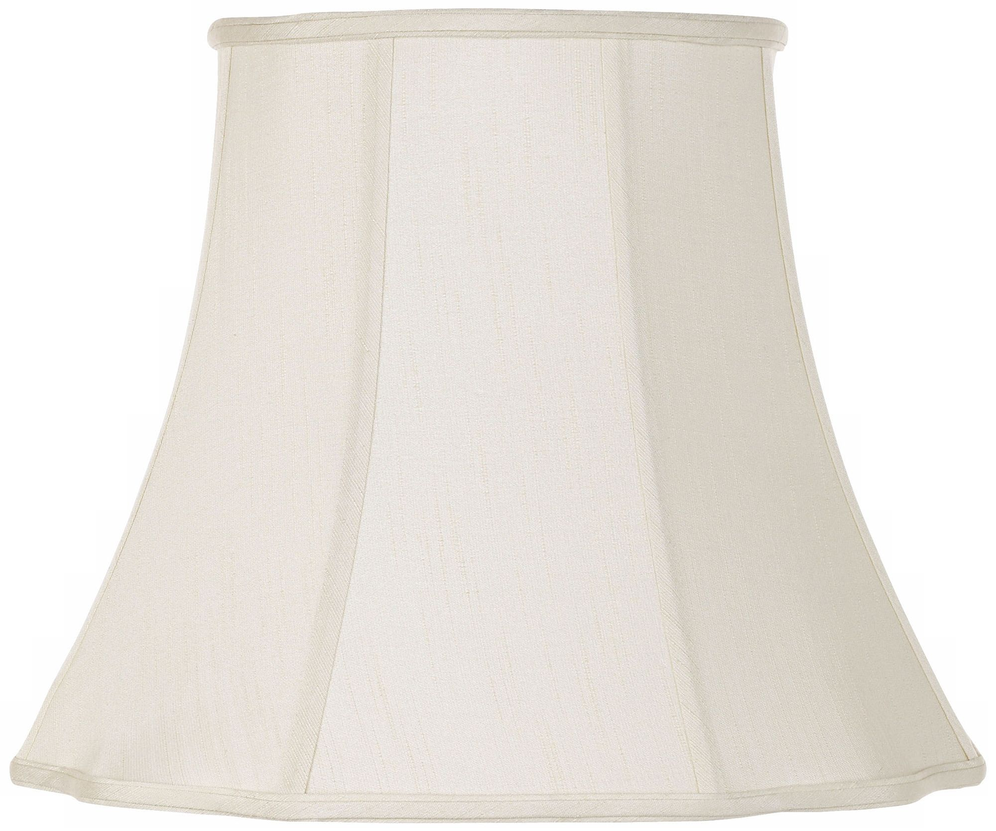 lamp shades creme bell curve cut corner lamp shade 11x18x15 (spider) PIAZRFF