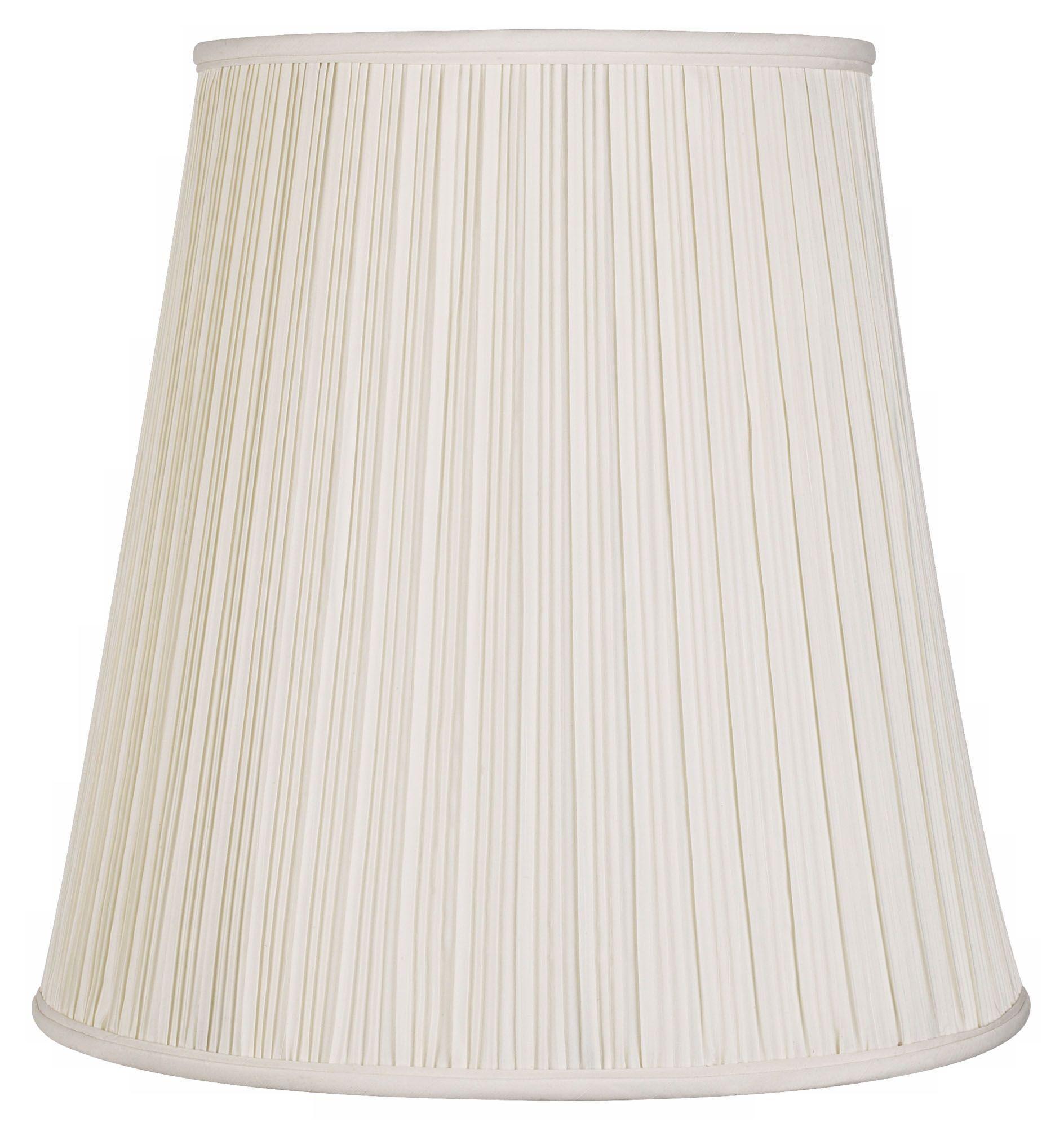 lamp shades creme mushroom pleat lamp shade 12x18x18 (spider) VAIWAMF