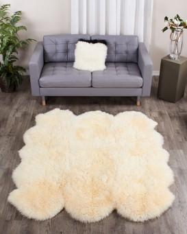 large champagne sheepskin rug - 6-pelt sexto (5.5x6 ft) GMILJGL