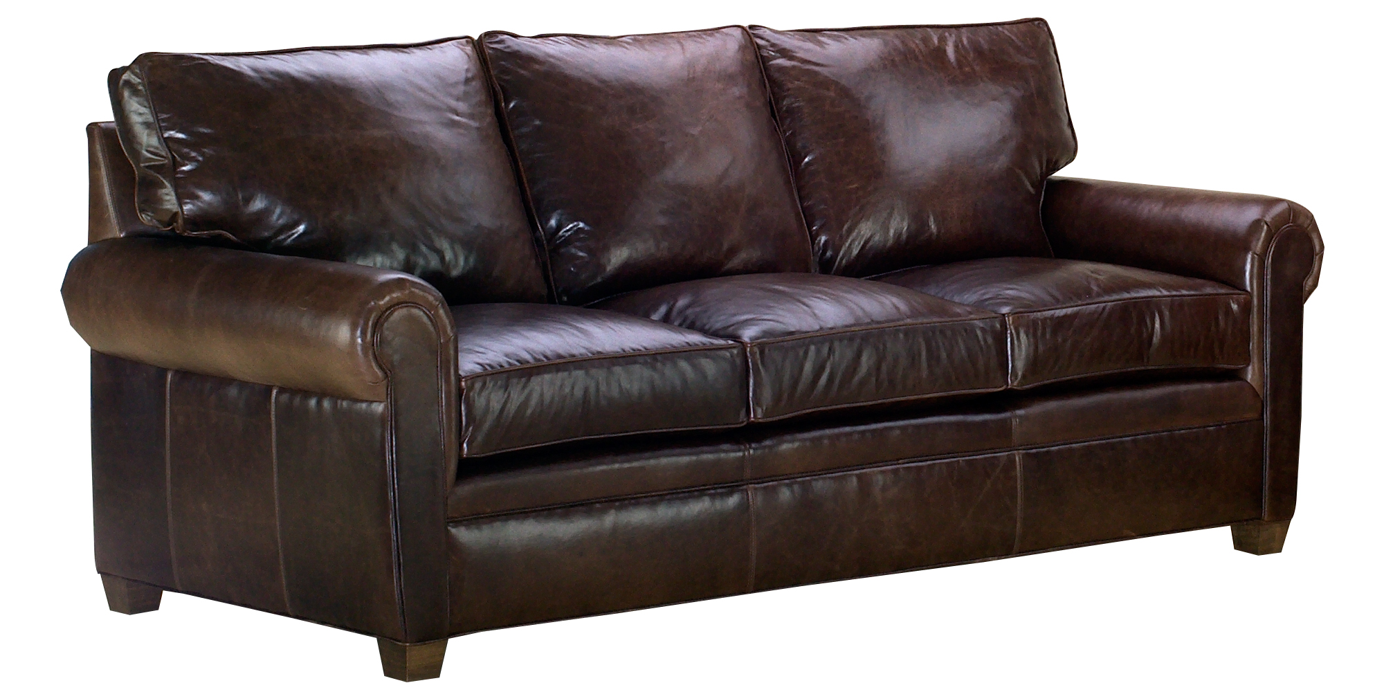 leather furniture rockefeller rolled arm sofa set AGKEAGA