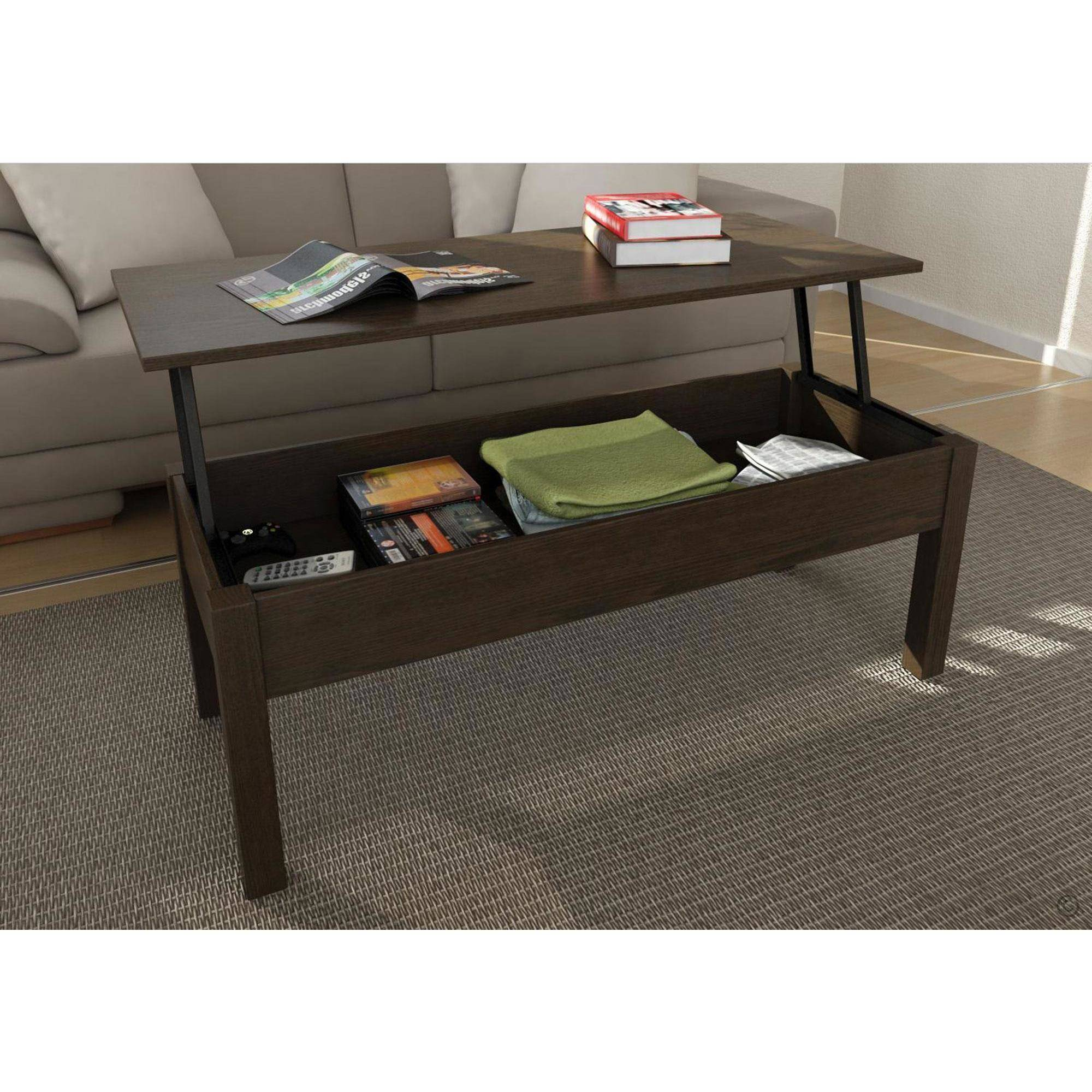 lift top coffee table mainstays lift-top coffee table, multiple colors TSECQBF