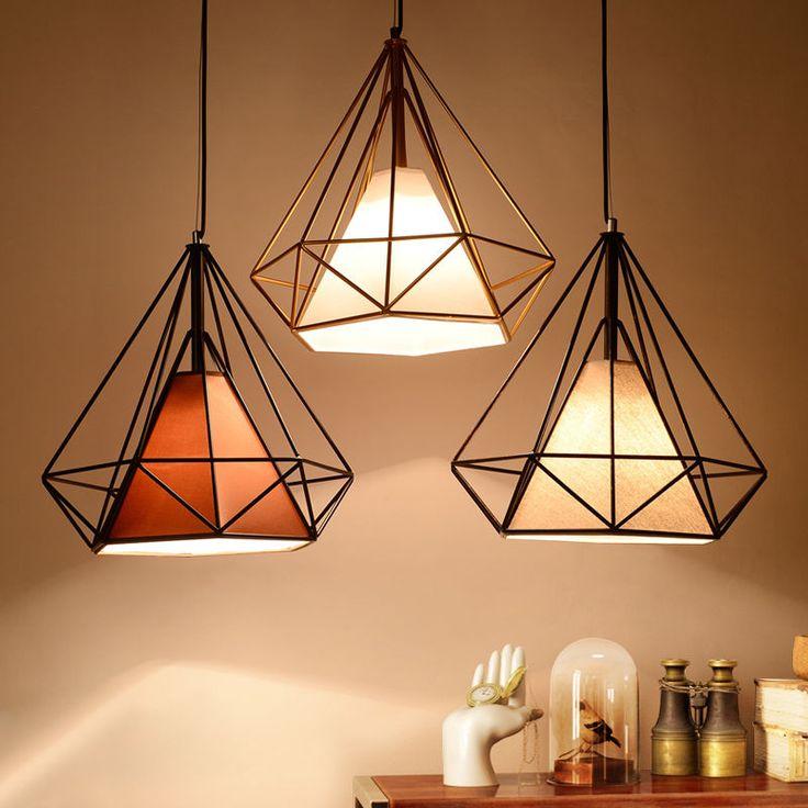 light shades birdcage metal frame pendant lamp lightshade minimalist for room office  decor uk NUQLAYB