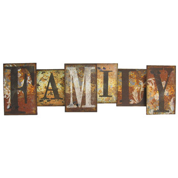 metal wall art family metal wall decor MAHUZBF