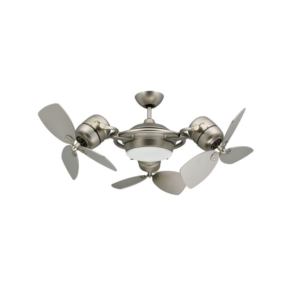 modern ceiling fans satin steel triple ceiling fan SEPJMZV