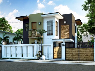 modern house design floor plan code: mhd-2015016 | 93 sq.m. | 4 beds | 2 baths GUBHUCC