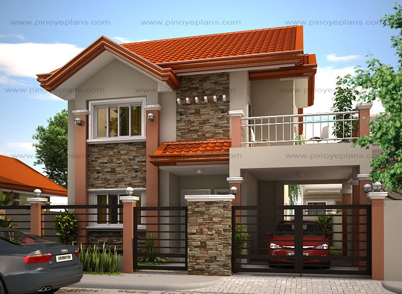 modern house designs such as mhd-2012004 has 4 bedrooms, 2 baths and 1 SQFHPBT