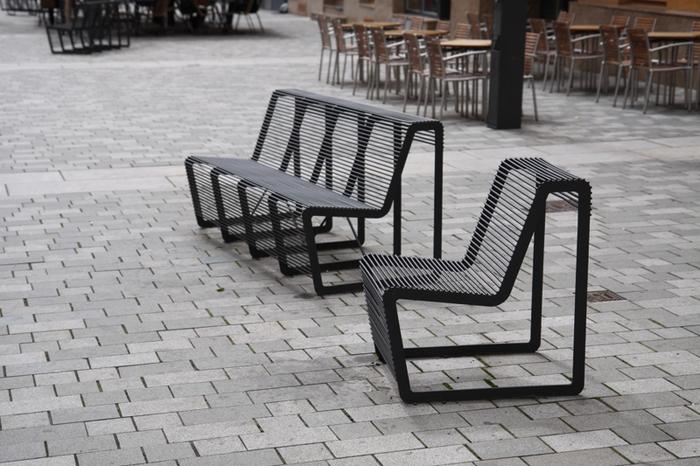 modern street u0026 site furnishings - urban furniture around the square WEMRLAI