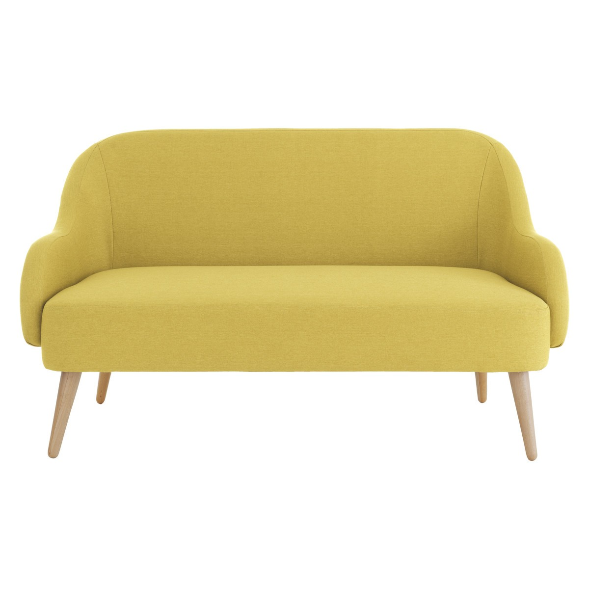 momo saffron yellow fabric 2 seater sofa QCSESMR