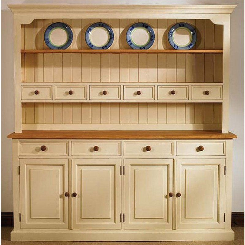 mottisfont solid pine painted large 84 inch welsh dresser 4 ECSQAHN
