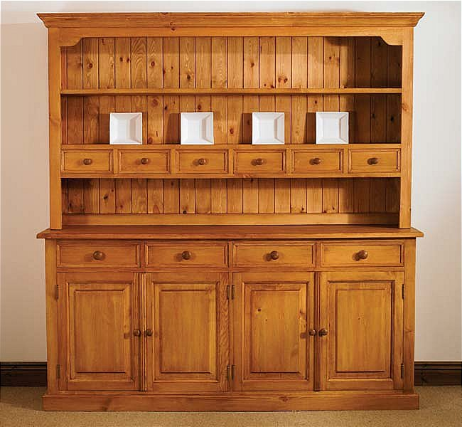 mottisfont waxed large welsh dresser | oak furniture solutions AHNVUTK