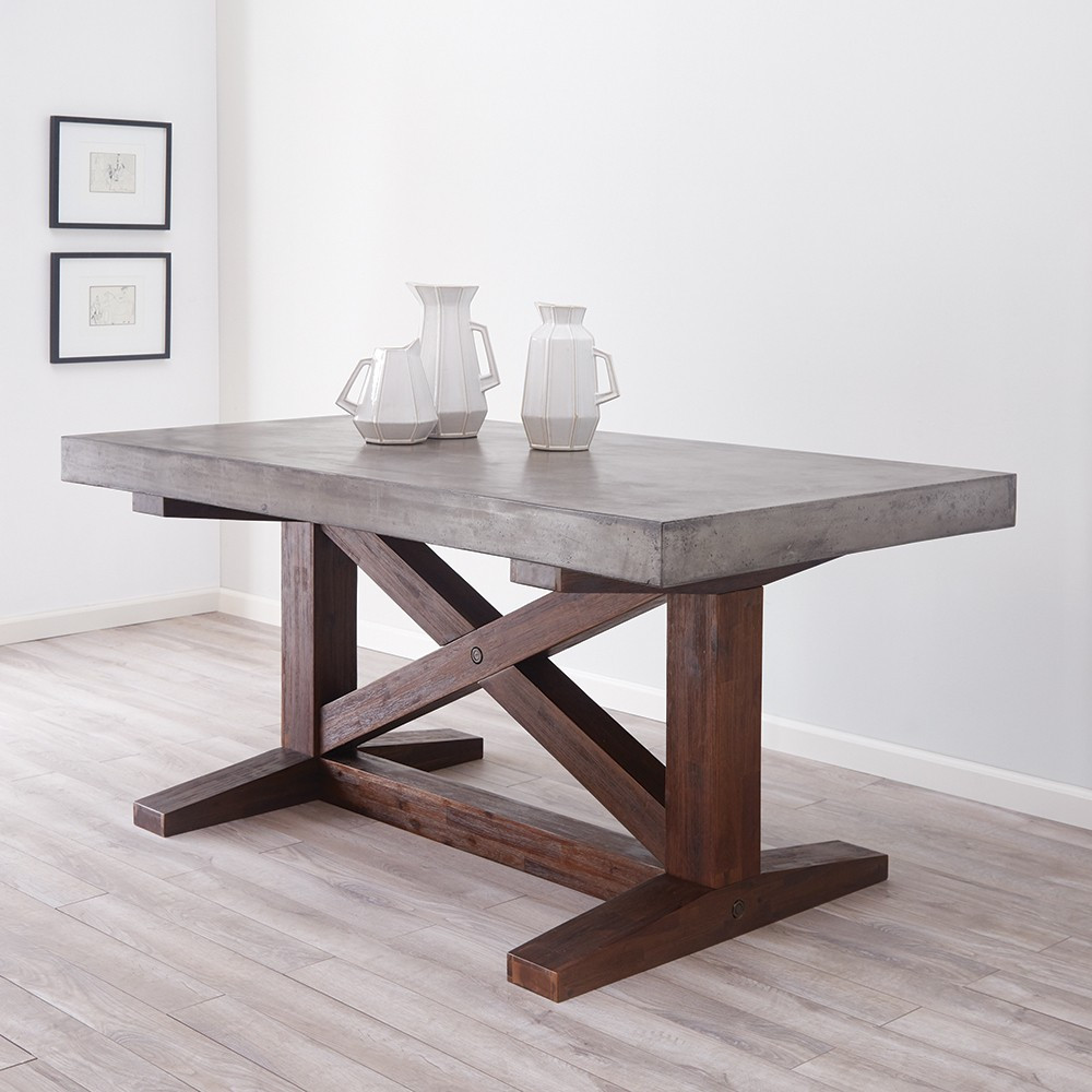 nativestone collection - 72-inch trestle table MZUWSIJ